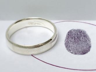 Fingerabdruck Trauringe Aachen - besondere Ringe! Individuelle ausgefallene