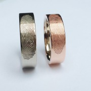 Fingerabdruck Ringe Axial 2-farbig